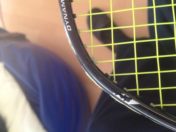 Riss von der Seite  - (Sport, Reparatur, Badminton)