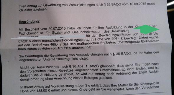 Antwort vom Bafög Amt - (Bafög, Jobcenter)