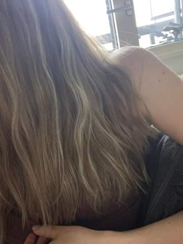 Balayage auf blonde Strähnchen?