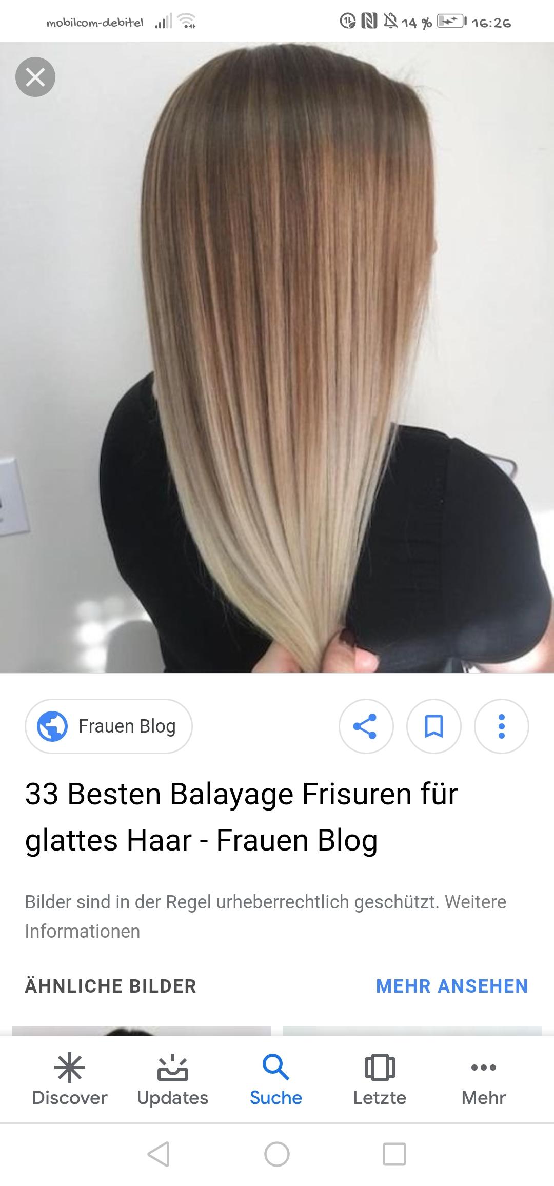 Balayage Bei Glatten Haaren Haare Beauty Frisur