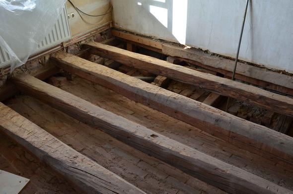 Fußboden Balken Osb ~ Balkendecke dämme haus bauen holz