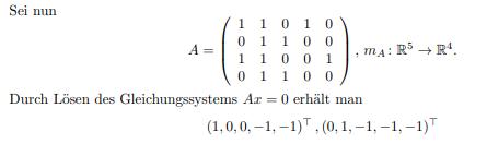 Basis Kern(m_A) von Matrix bestimmen?