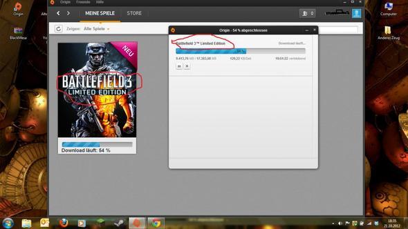 Hier der Screenshot - (Battlefield, ea, Service)