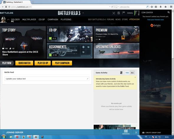 Joining Server - (Battlefield-3)