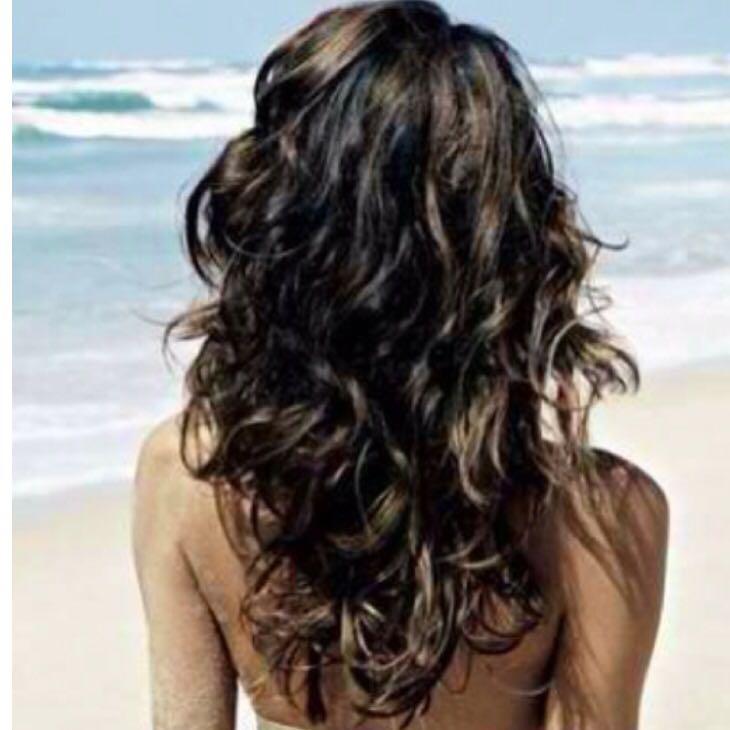 beach waves bei d nnen langen glatten haaren dauerwelle. Black Bedroom Furniture Sets. Home Design Ideas
