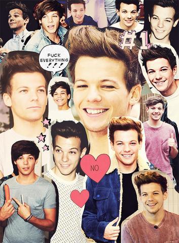Ja das ist Louis von 1D ;) <3 - (App, One Direction, Collage)