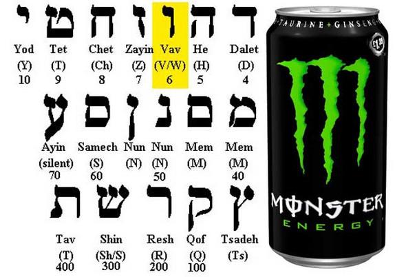 Bedeutet das Monster Energy Logo 666?