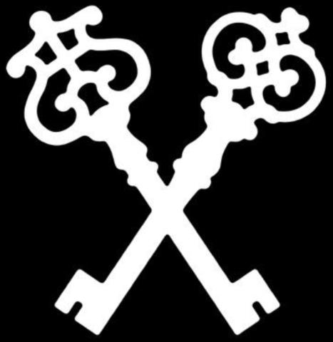 gekreuzte schlüssel - (Kunst, Tattoo, Symbol)