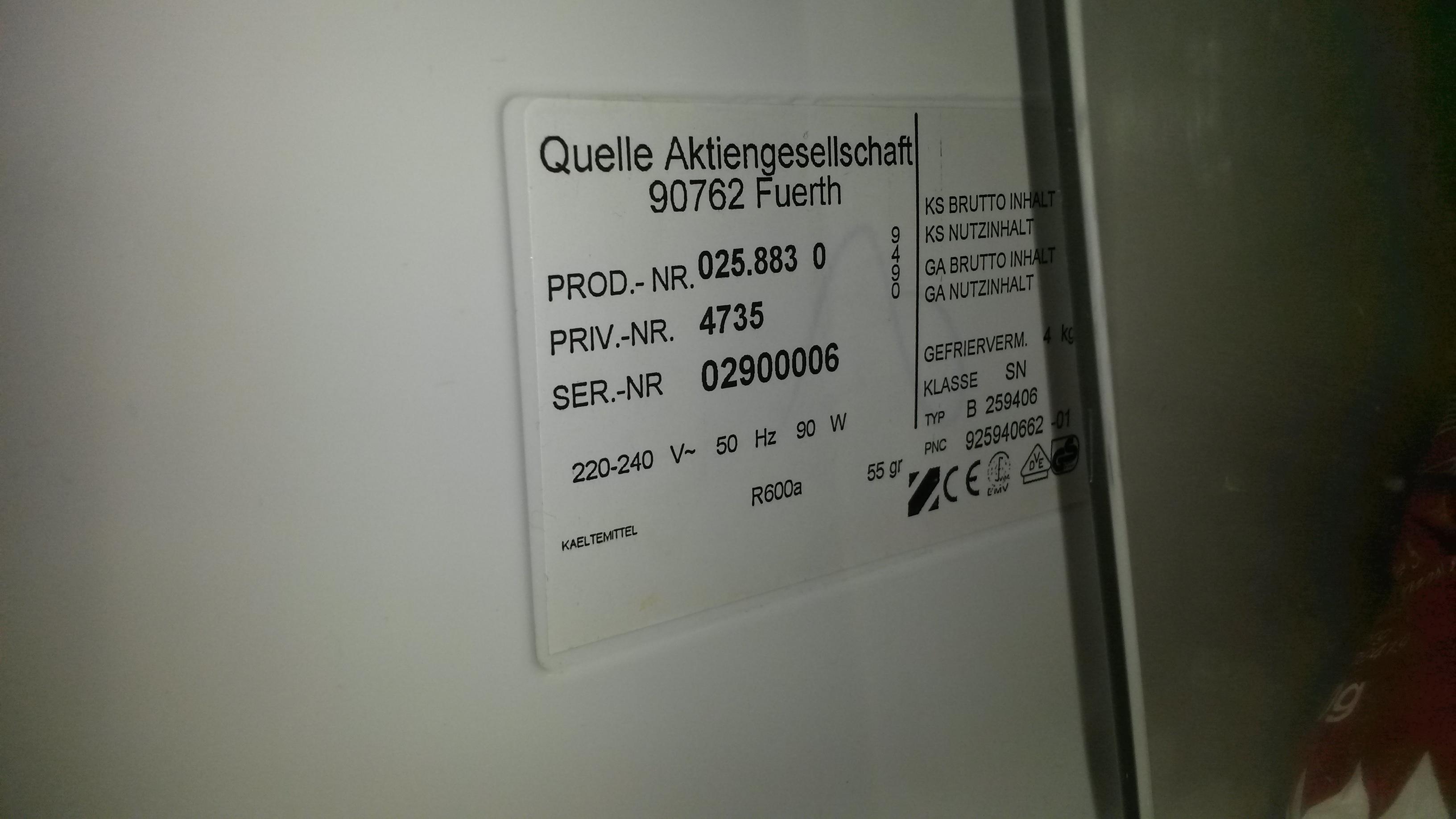 Aeg Kühlschrank Bedienungsanleitung : Bedienungsanleitung für privileg Öko energiesparer kühlgefrierkombi