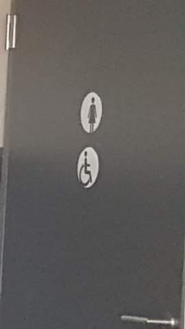 Behinderten WC meistens im Damen WC?