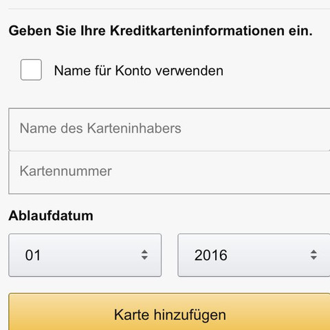 Screenshot von Amazon App  - (Recht, Finanzen, Amazon)