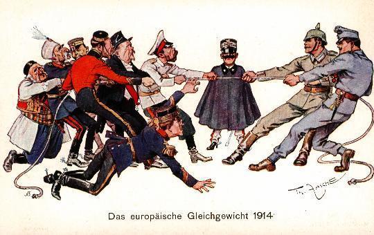 Karikatur 1914 - (Freizeit, Krieg, Karikatur)