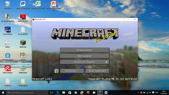 Da sieht man, dass der maximieren-Button nicht geht - (Minecraft, Mc, Vollbild)