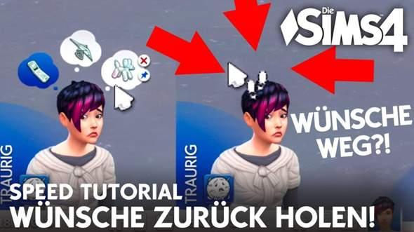 Bei mir bei denn Sims 4 werden iwie keine Wünsche von denen eingeblendet und ich weiß nicht was das Problem ist?