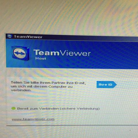 Bei mir in Team viewer kommt immer nur das Fenster. Wie finde ich das Passwort zum fernsteuern rauss?
