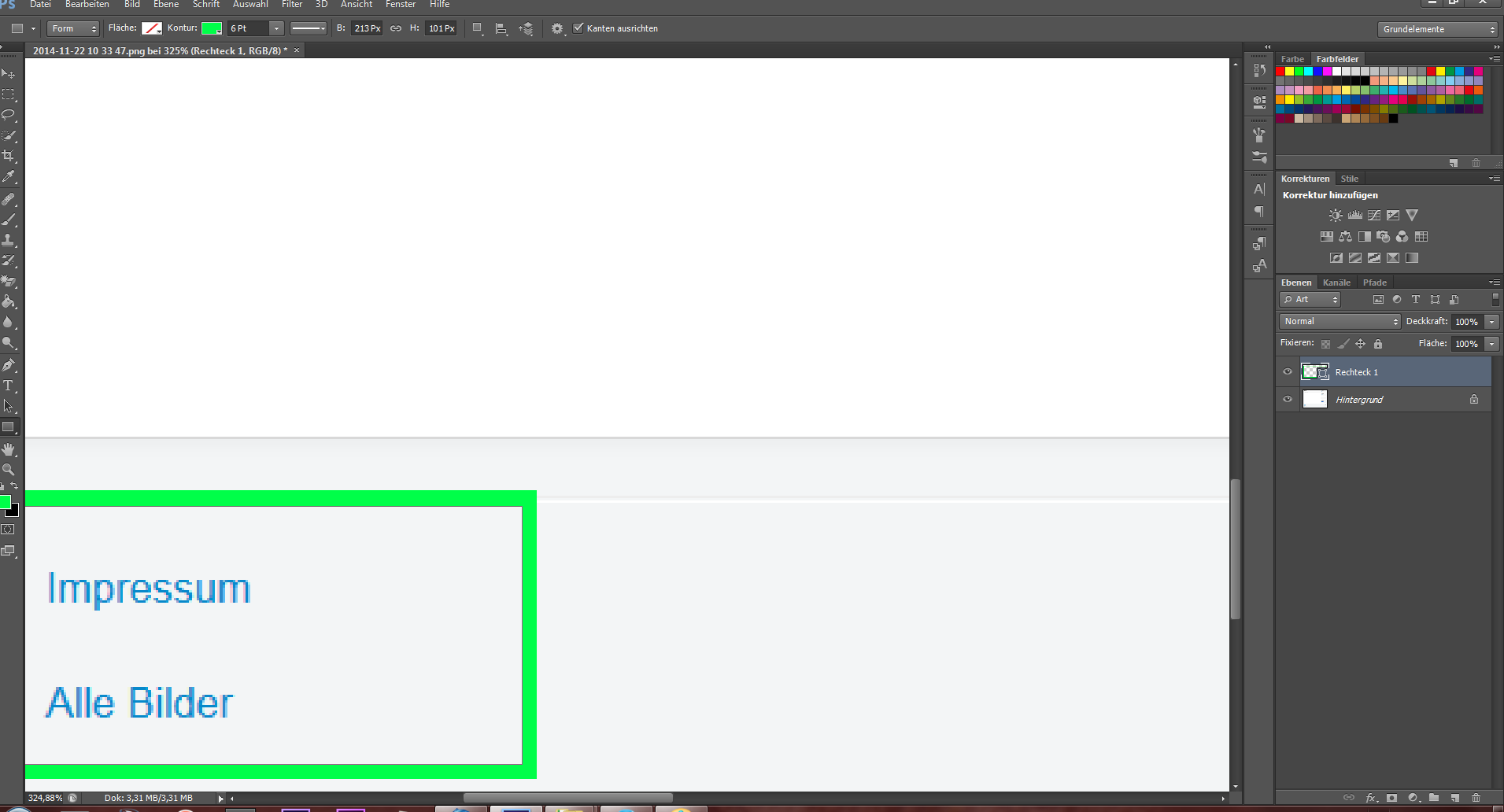 Bei Photoshop den grauen Rahmen entfernen (Computer, Grafik, Design)