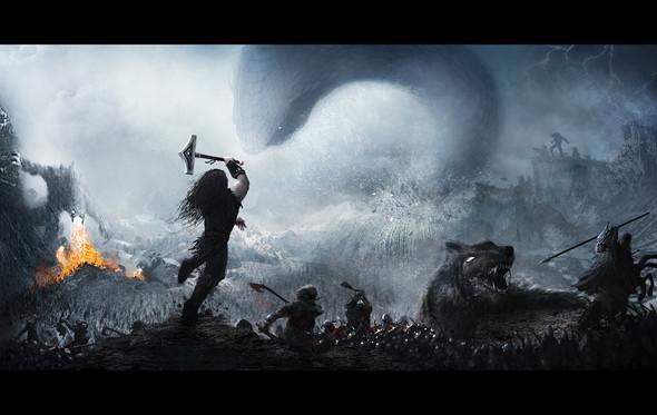 Bei Ragnarök, dem Ende der bisherigen Welt, kommen fast alle Götter, Riesen und Menschen um? Ist das ungefähr die gleiche Geschichte wie die des Christentums?