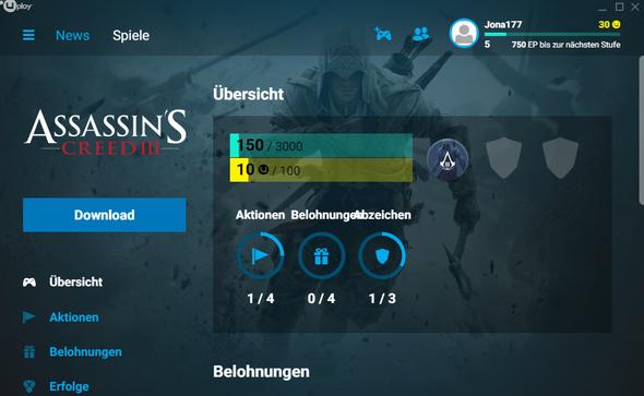 Das ist bei Uplay und dann geh ich auf Download - (Games, kaufen, Download)
