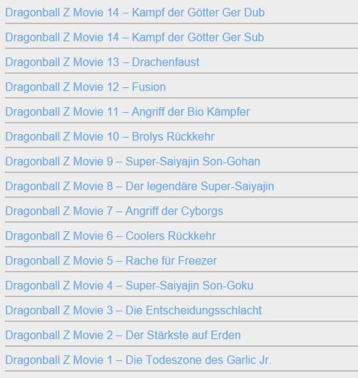 Dragonball Folgen Liste