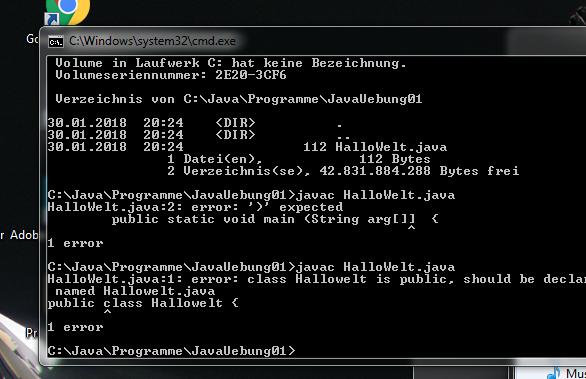- (programmieren, Java, cmd)