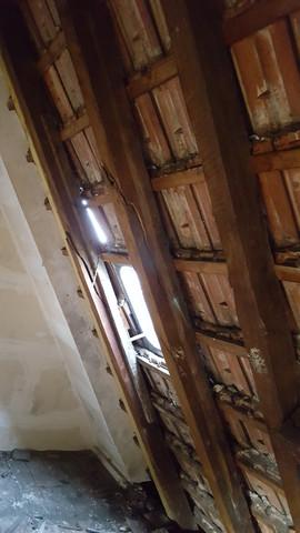 Beim Nachbarn sind Dachfetten gebrochen u. das Dach geht zur Hälfte über mein Dach-kann ich die Reparatur erzwingen?
