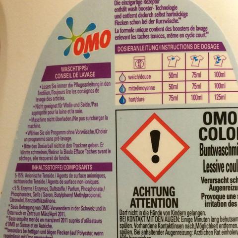 """Beinhaltet dieses Waschmittel """"Bleichmittel""""?"""