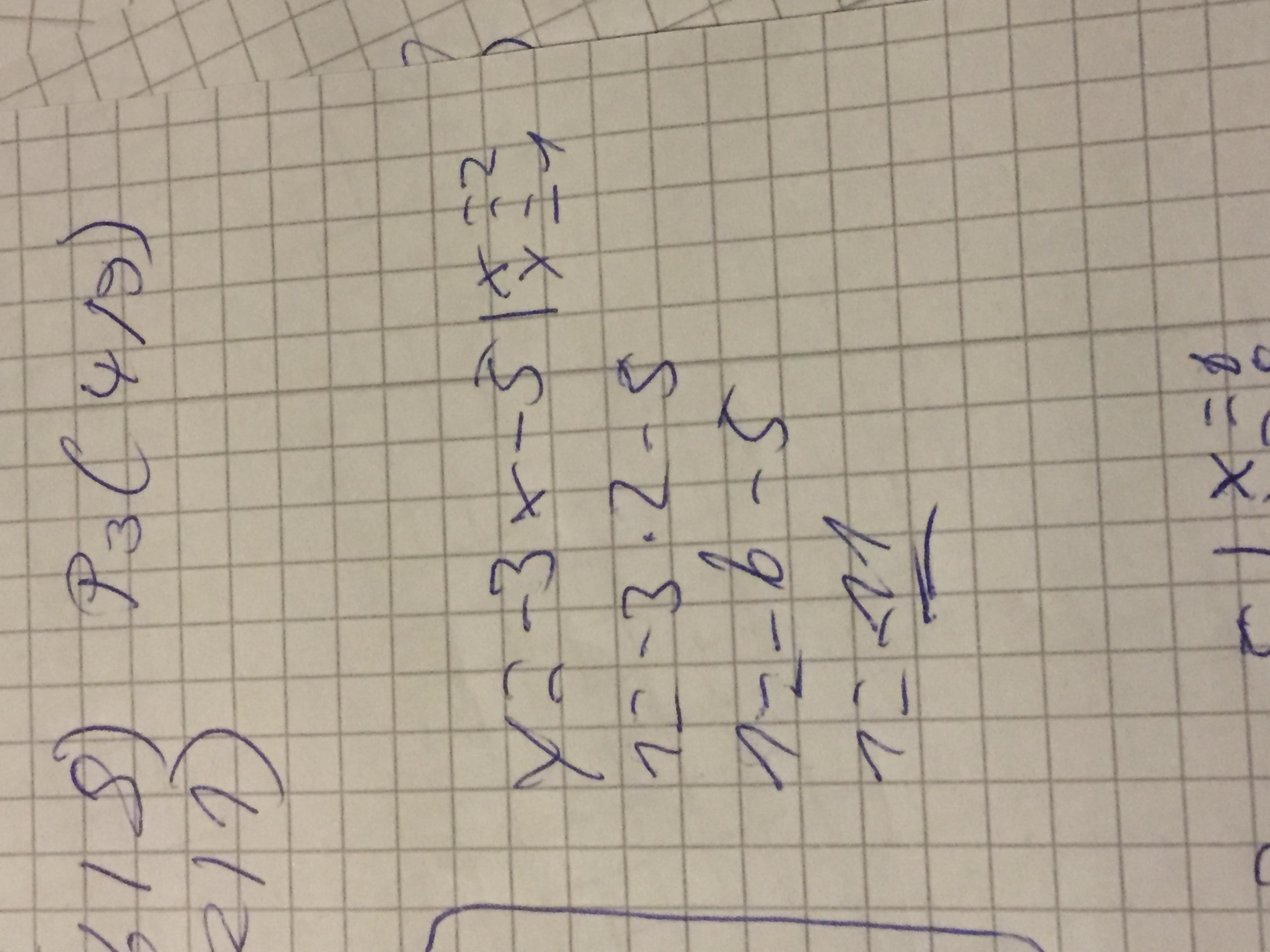 beispiel y 3x 5 liegt punkt 2 1 auf dem graphen funktionsgleichung berechnen mathematik. Black Bedroom Furniture Sets. Home Design Ideas