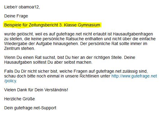 Beispiele fu00fcr Zeitungsbericht Gymnasium 3. Klasse (Schule ...