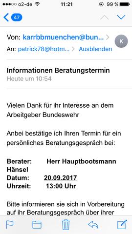 Leute das ist der Termin  - (Bundeswehr, Beitritt)