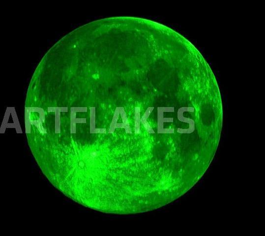 Grüner Mond - (Mond, grün)