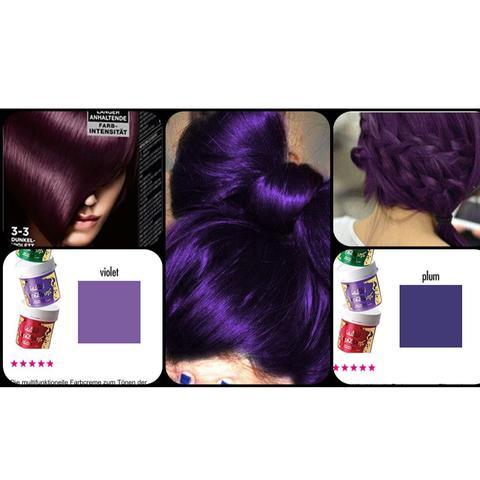 Haarfarbe Syoss dunkelviolet lila Directions - (Haare, Frisur, Haarfarbe)
