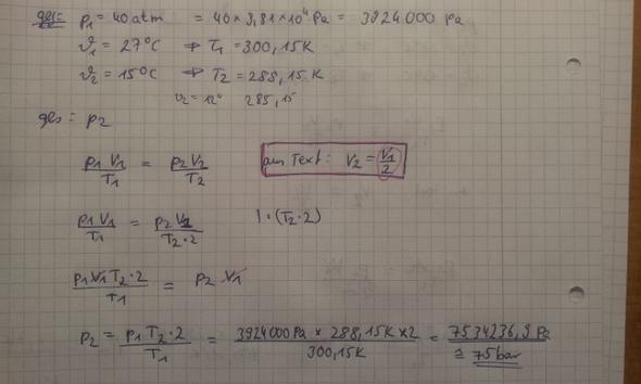 lösungsweg - (Physik, Thermodynamik)