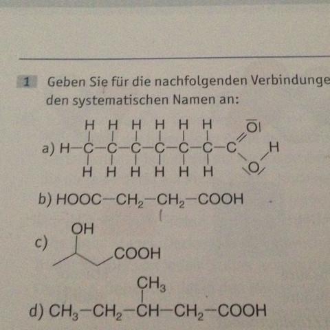 Benennung Für Chemische Verbindungen Schule Chemie Namen