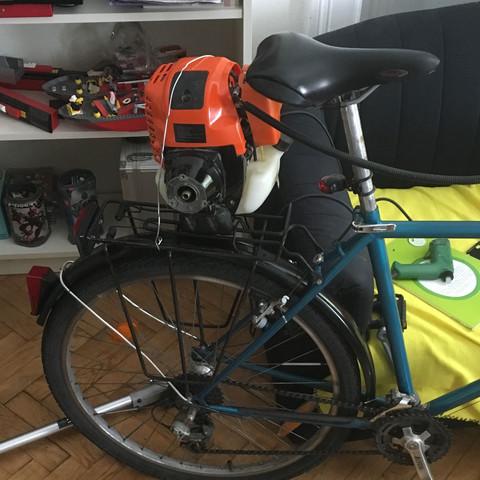 Motor am Fahrrad  - (Fahrrad, Motor, basteln)