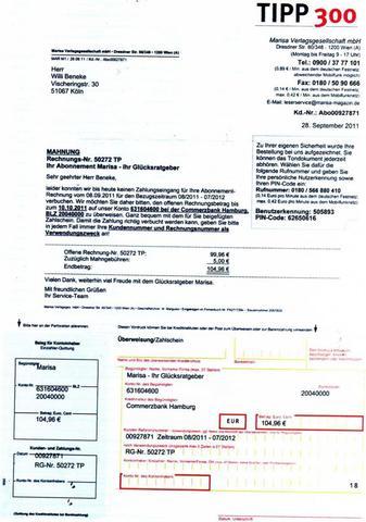 Rechnung - (Rechte, anzeigen)