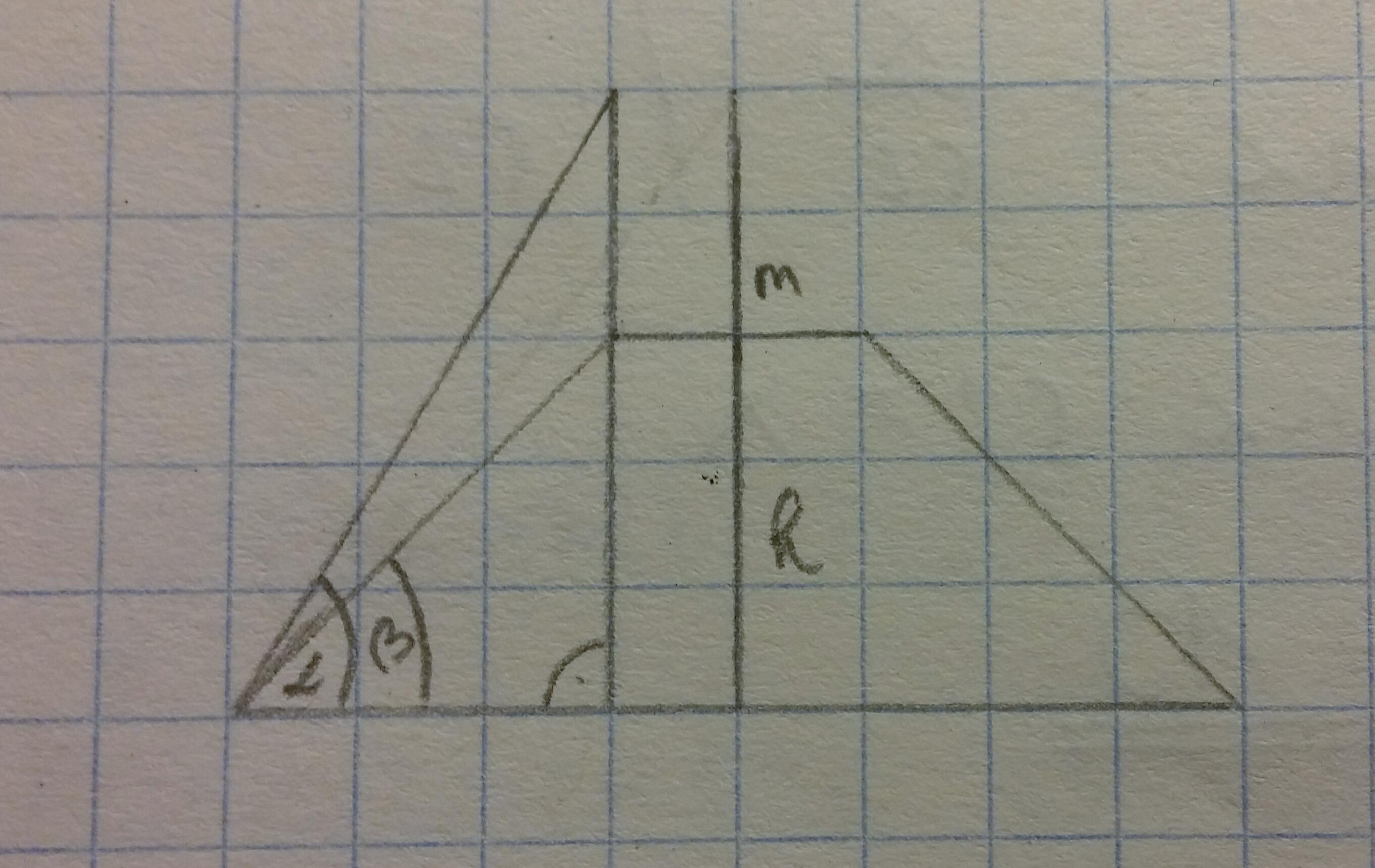 berechnung der h he eines trapez trigonometrie aufgabe. Black Bedroom Furniture Sets. Home Design Ideas