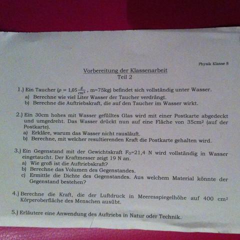 Aufgabe 2b  - (Schule, Physik)