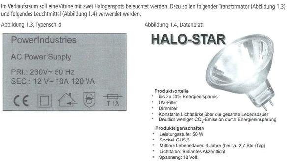 Datenblatt - (Elektrotechnik, Transformator, Halogenlampe)