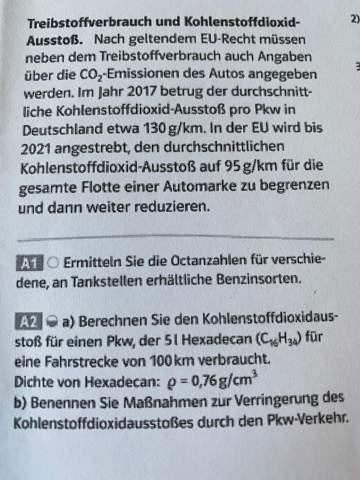 Berechnung von freigesetzten Kohlendioxidmasse?