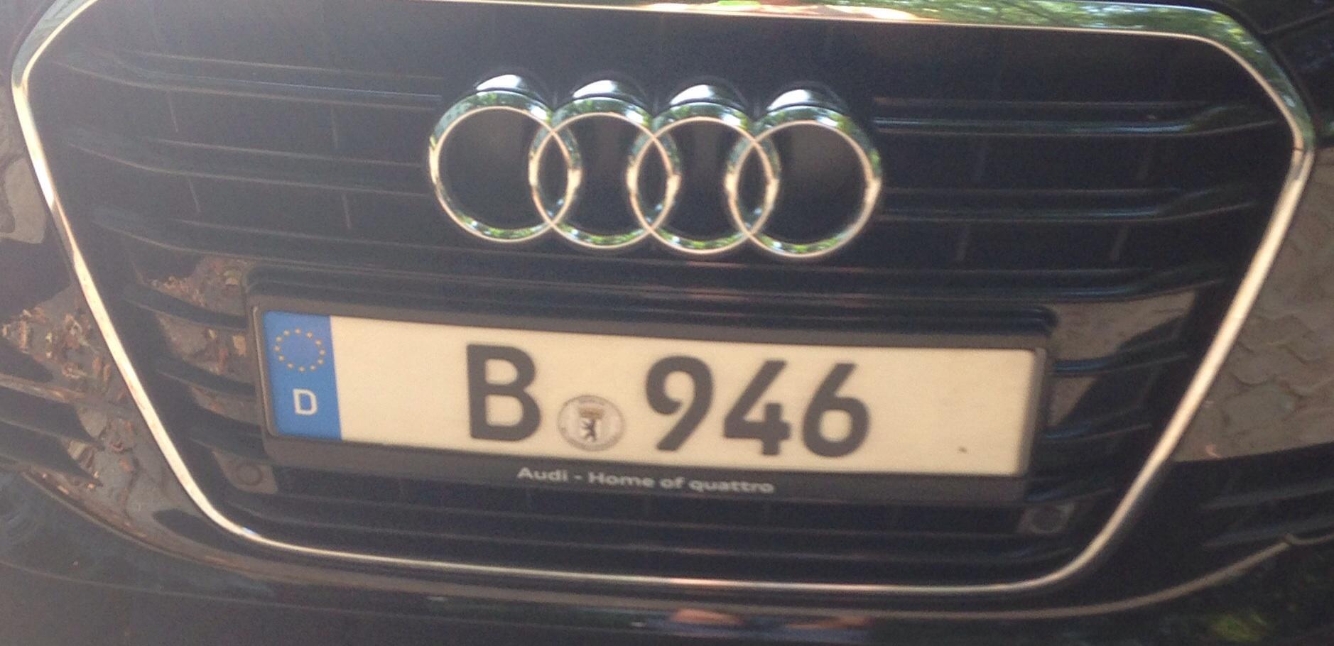 Berliner Kennzeichen mit nur 3 Ziffern nach dem Ortskennzeichen ...