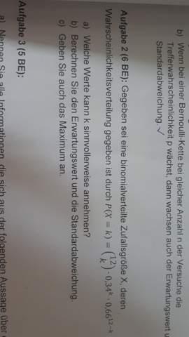 Bernoulli - binomialverteilte Zufallsgröße X?
