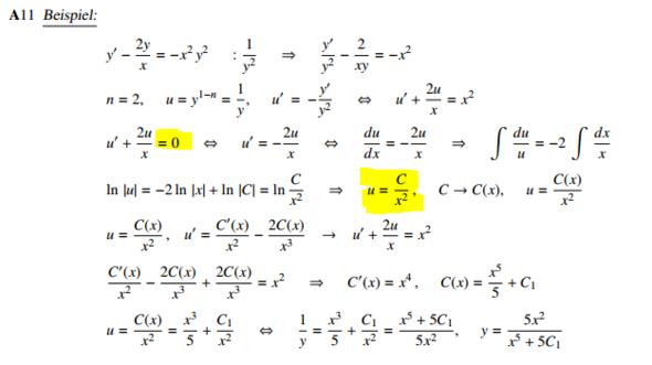 Bernoulli Differentialgleichung?