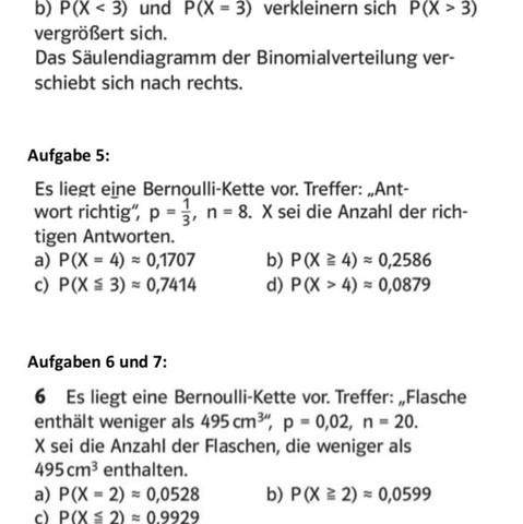 bernoulli experiment l sungen schule mathe stochastik. Black Bedroom Furniture Sets. Home Design Ideas