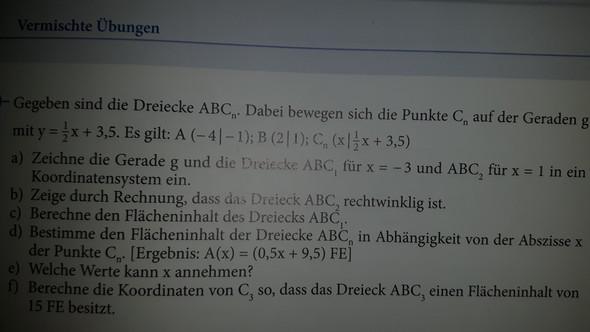 BILD AUFGABE C) - (Mathe, rechtwinklig)