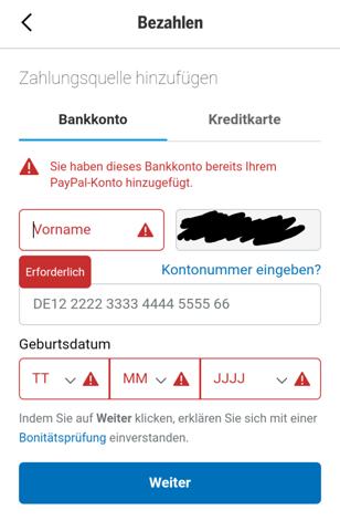 Bershka mit Paypal bezahlen geht nicht?
