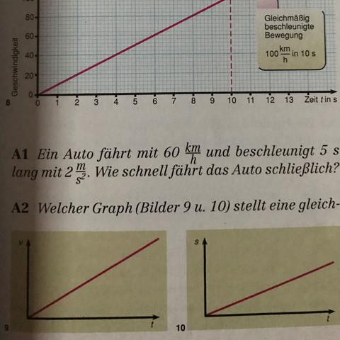 Beschleunigung (Physik) Klasse 10? (Schule, Arbeit, Mathe)