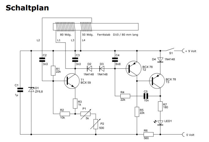 Beschreibung/ Funktion Schaltplan Metalldetektor (Elektronik ...