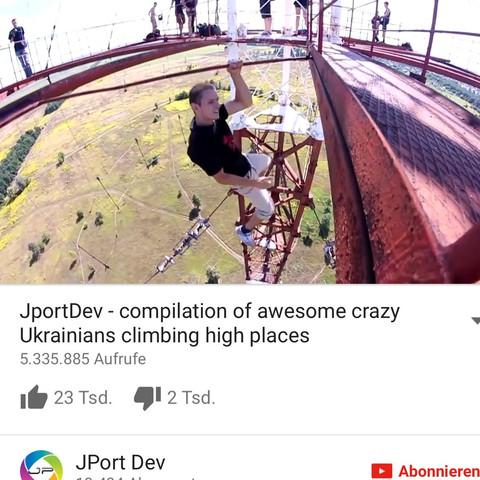 So sieht er aus  - (Youtube, Russland, klettern)