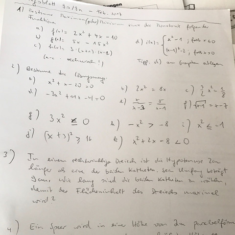 Monotonie Funktionen  - (Mathe, monotonie)