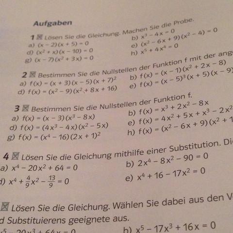 Dort die Aufgabe 3 e, g und h. - (Schule, Mathe, Mathematik)